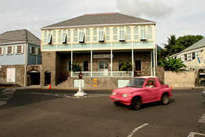 Nevis Tourism Authority offices housed at the A. L. Evelyn Building on Main Street in Charlestown (file photo)