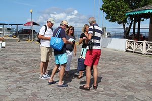 Visitors to Nevis (file photo)