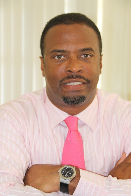 Deputy Premier of Nevis Hon. Mark Brantley at his Bath Plain office during an interview with the Department of Information on September 03, 2014