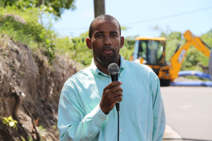 Roger Hanley Manager of the Nevis Water Department on sight at the Nevis Water Supply Enhancement Project on the Island Main Road at Maddens