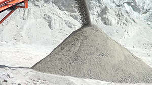 Base material mined at the New River quarry