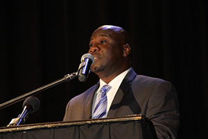 Minister of Agriculture in the Nevis Island Administration Hon. Alexis Jeffers