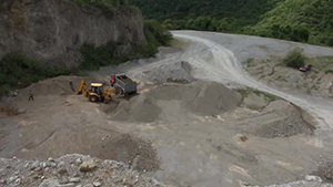 Ongoing operations at the government-owned New River quarry