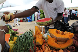Locally grown fruits and vegetables available at one of the Department of Agriculture's annual Open Day in Charlestown (file photo)