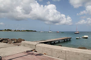 Yachts anchored off Charlestown Singer Pier (file photo)