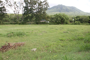 The site for construction of a new greenhouse at the Prospect Agricultural Station