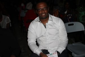 Deputy Premier of Nevis and Minister of Community Development Hon. Mark Brantley at the Department of Community Development's annual Christmas Tree Lighting ceremony at the Memorial Square in Charlestown
