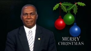 Christmas Greetings from Premier of Nevis Hon. Vance Amory