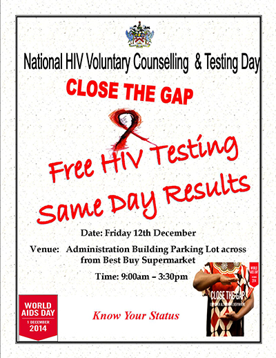 WORLDS AIDS DAY TESTING POSTER 2014