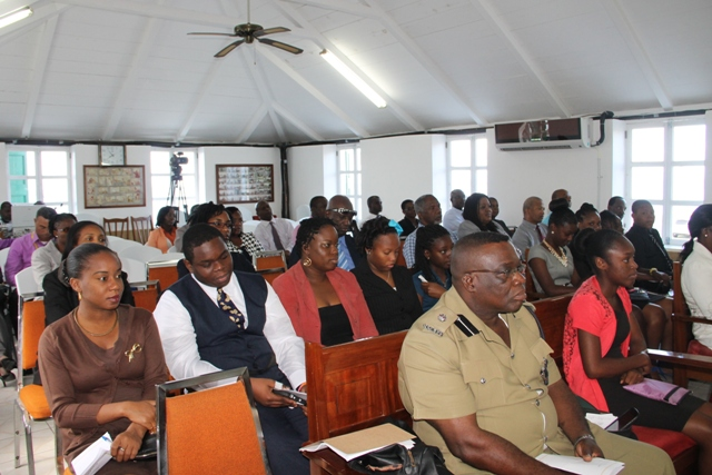 A section of the gallery at the Nevis Island Assembly listen to Premier of Nevis Hon. Vance Amory presenting the 2015 Budget Address on December 16, 2014