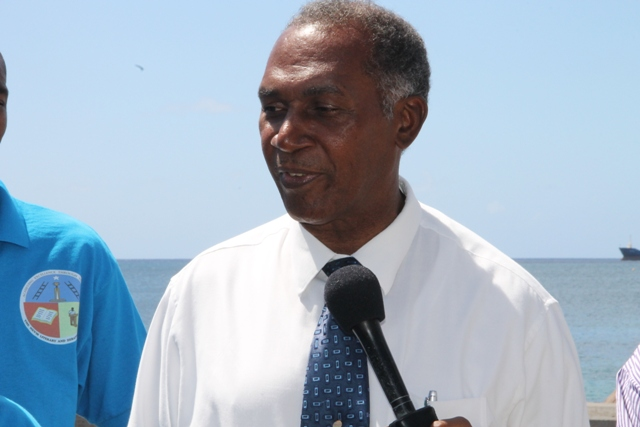 Premier of Nevis and Minister of Education Hon. Vance Amory seeing off the Nevis 6th Form College's Literary and Debating Society Debaters on Wednesday 25th February, 2015 at the Charlestown Pier.