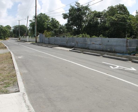 A section of the completed Hamilton Road project