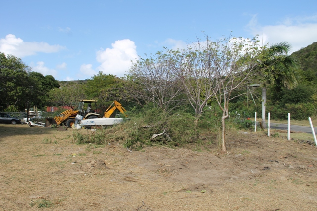 Clearing of the venue for the first Nevis Blues Festival at Oualie Bay scheduled for April 16, 17 and 18, 2015