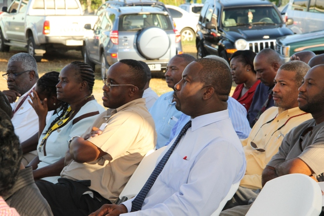 A section of persons at the Opening and Renaming Ceremony of the Hamilton Road at Bocco Park on February 03, 2015