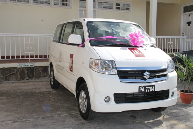 The new mini bus for use in the Department of Social Development's Sports Health and Wellness programme