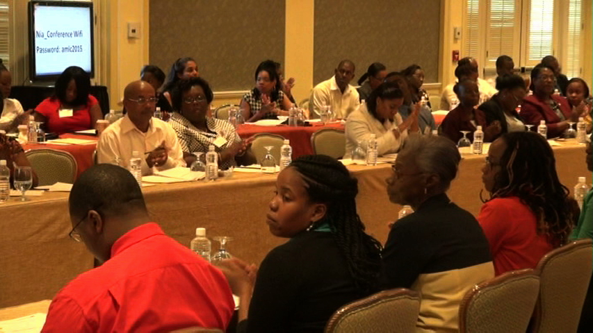A section of participants at the Nevis Financial Services Regulation and Supervision Department 2015 Anti-Money Laundering (AML) and Countering Financing of Terrorism (CFT) Awareness Seminar and Training Workshop on March 3 and 4, 2015 at the Four Seasons Resort Conference Room.