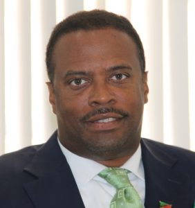 Minister of Tourism on Nevis Hon. Mark Brantley