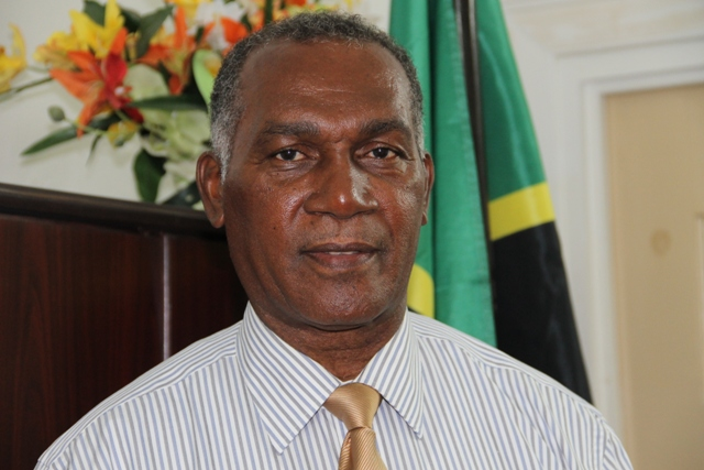 Premier of Nevis Hon. Vance Amory at his Bath Plain office on April 07, 2015