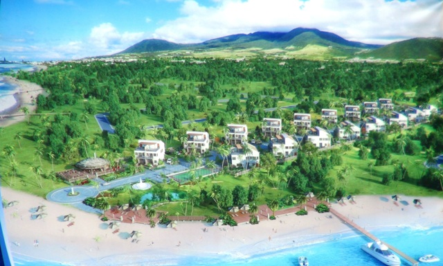 Artists impression of the HTRIP Candy Resort Villa Development at Liburd Hill, St. James Parish in Nevis