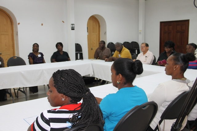 Cross section of participants at the Caribbean Development Bank-sponsored Intermediate Leather Craft Workshop on May 11, 2015 at St.Pauls Anglican Church School Hall