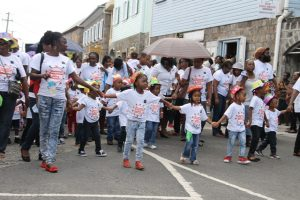 Child Month Parade moving through the streets of Charlestown on June 12, 2015