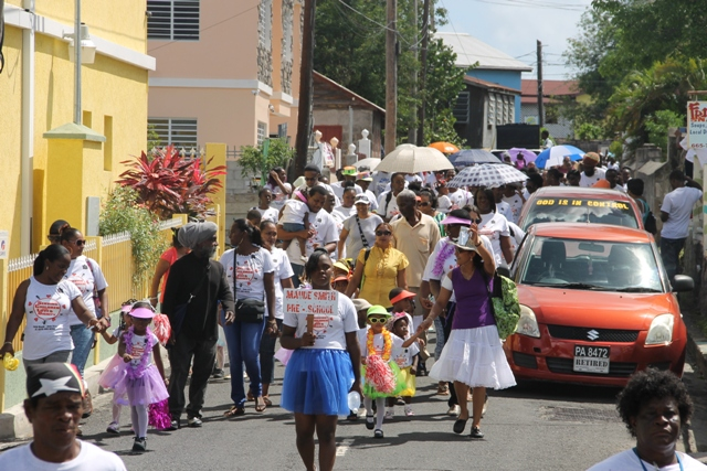 Child Month Parade winding through the streets of Charlestown on June 12, 2015