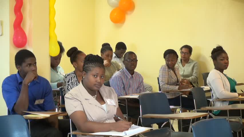 Some of the participants at the Department of Education's Prospective Teacher's Course at Pinney's on June 22, 2015