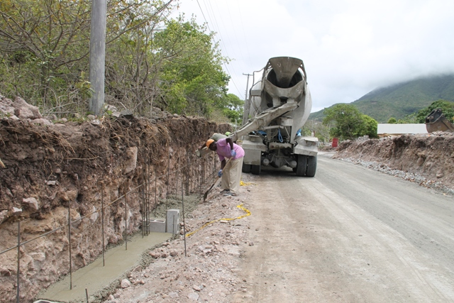 Ongoing work in the Hanley's Road Rehabilitation project