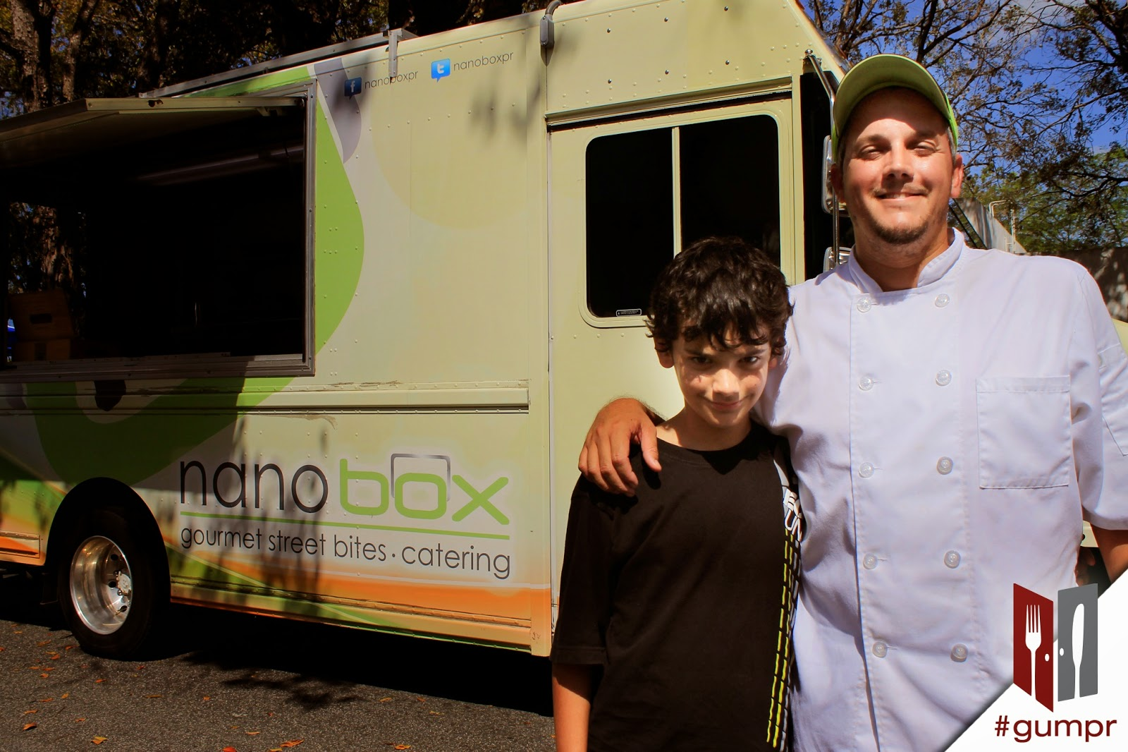 "Chef Orlando ""Nano"" Rodriguez from Puerto Rico with his son Xavi"
