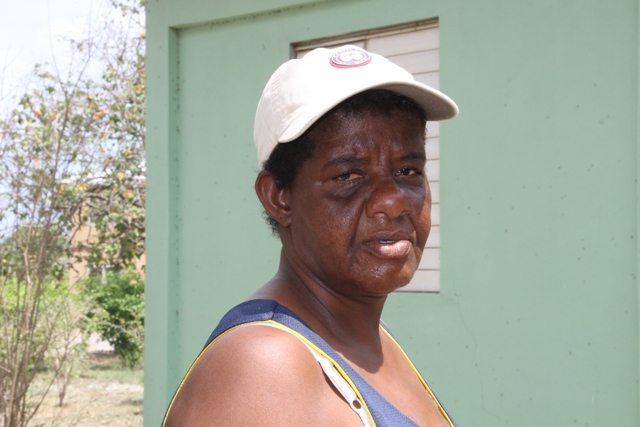 Vera France of Camps Village, a livestock farmer on Nevis