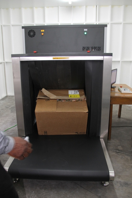 The new ADANI x-ray machine commissioned at the Long Point Port on September 07, 2015