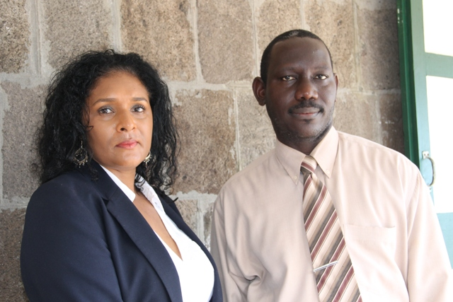 Assistant Permanent Secretary in the Ministry of Tourism John Hanley and new Communications Officer in the Ministry of Tourism on Nevis Shelagh James on October 21, 2015