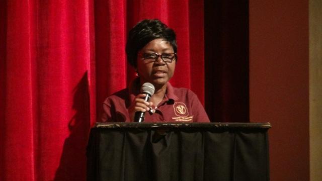 President of the Nevis Teachers Union Ornette Webbe