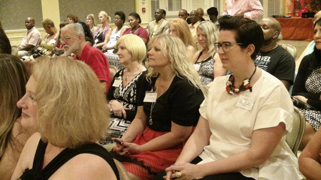 A section of the Travel Trade Professionals at the opening ceremony of the inaugural Nevis Travel Symposium of Romance at the Four Seasons Resort on October 19, 2015, hosted by the Nevis Tourism Authority.