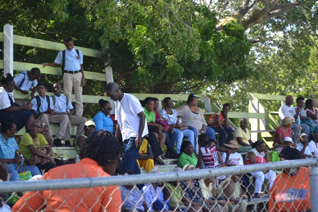 A section of spectators at the at the first ever Seniors Fun and Action Games hosted by the Ministry of Social Development, Senior's Division at the Elquemedo Willet Park on October 15, 2015