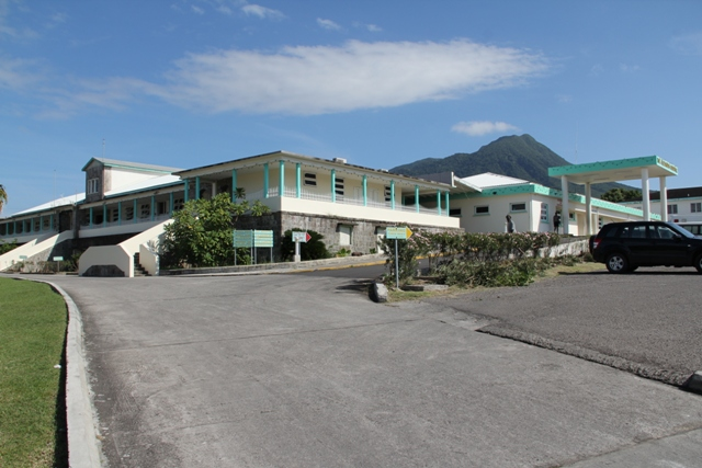 The Alexandra Hospital on Nevis slated for rehabilitative work and expansion in 2016 (file photo)