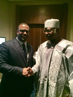 Minister of Foreign Affairs the Hon. Mark Brantley with Prime Minister of Cameroon Mr. Ebua Philémon Yunji Yang