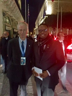 Minister of Foreign Affairs the Hon. Mark Brantley with Canadian Foreign Affairs Minister Stéphane Dion