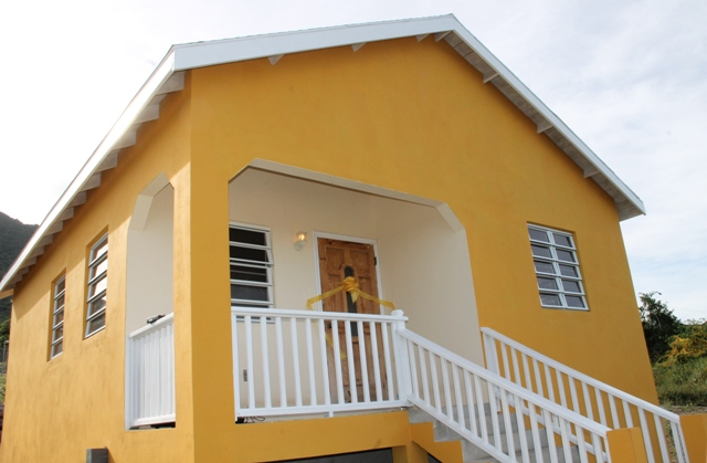 The two-bedroom furnished house nestled on 5000 sq. ft. of land at Eden Brown Estate donated to young accomplished athlete Adrian Williams by the Nevis Island Administration in collaboration with the Nevis Housing and Land Development Corporation at the official Handing Over Ceremony at Eden Brown Estate on December 16, 2015