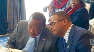 Minister of Foreign Affairs the Hon. Mark Brantley with President of Kenya Uhuru Kenyatta