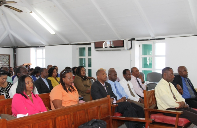 A section of persons in the public gallery at a sitting of the Nevis Island Assembly on December 08, 2015