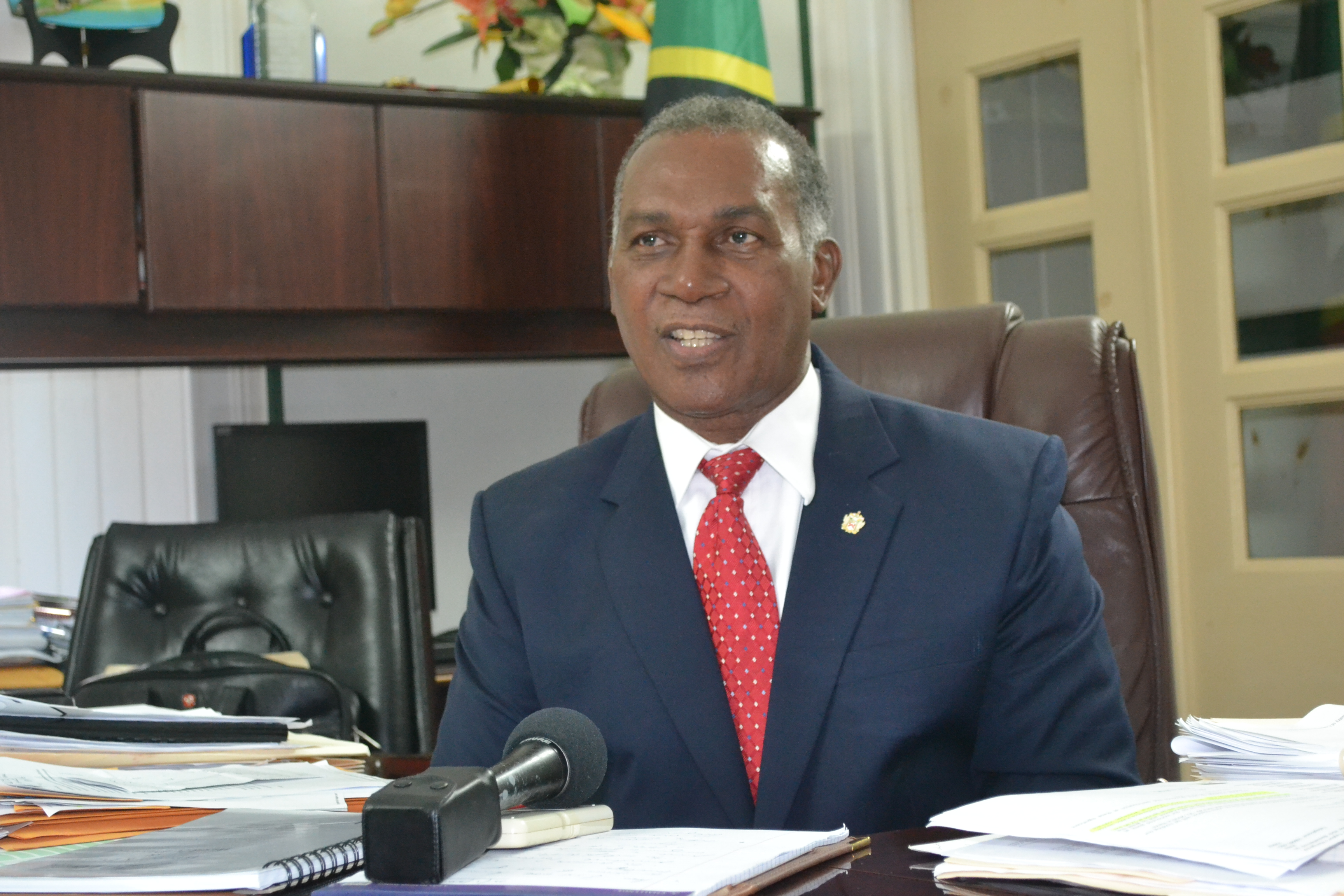 Premier of Nevis, Honourable Vance Amory, reporting on the Permanent Secretaries meeting convened in the Premier's Conference Room in the Premier's Ministry at Bath Hotel on January 22, 2016