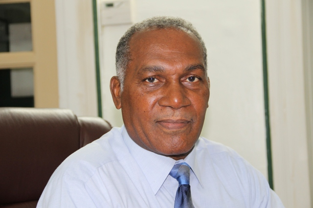 Premier of Nevis Honourable Vance Amory discussing the Nevis Island Administration's position on employment in his office at Bath Hotel on January 22, 2016
