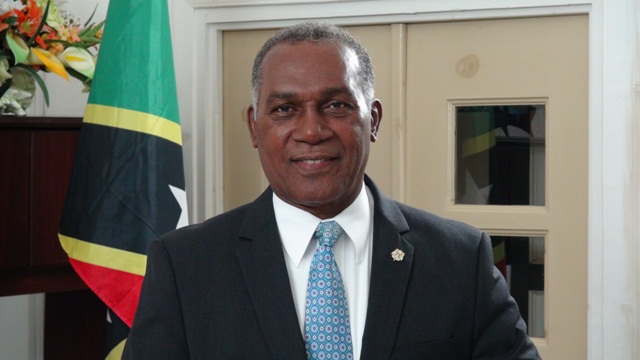 Premier of Nevis Hon Vance Amory at the Nevis Island Administration Building at Bath Hotel on January 15, 2015