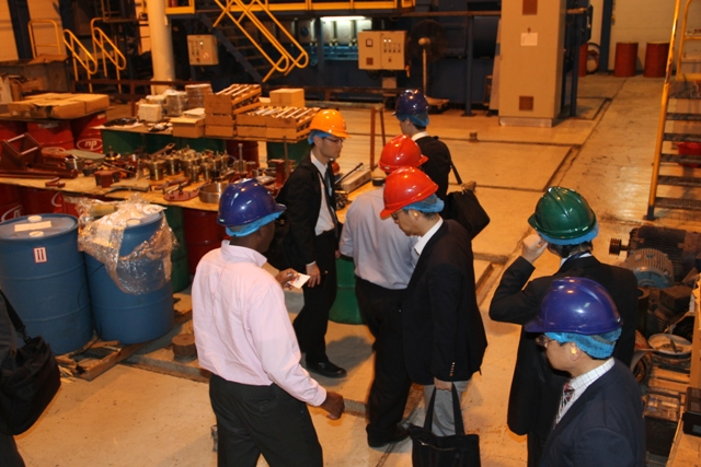 A team from the Japan International Cooperation Agency touring the Nevis Electricity Company Ltd.'s generation plant at Prospect on March 01, 2016