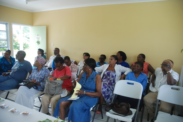 Participants at the at the Ministry of Agriculture's conference room at Prospect during the closing ceremony of a recent Mango Value Addition Training Workshop hosted by the Inter-American Institute for Cooperation on Agriculture in partnership with the Departments of Agriculture on St. Kitts and Nevis