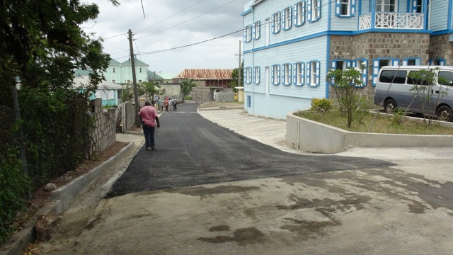 Featherbed Alley in Charlestown on April 01, 2016, the most recent road constructed by the Public Works Department in the Ministry of Communications and Works on Nevis