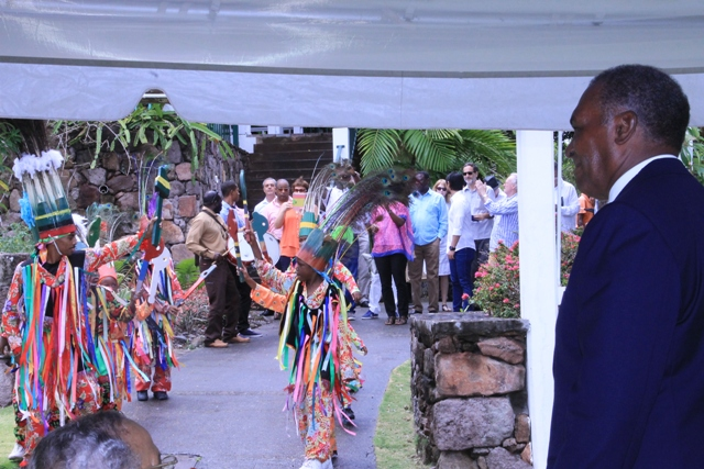 Premier of Nevis Hon. Vance Amory waiting to welcome diplomats to Nevis at the Botanical Gardens on April 06, 2016, as part of the Ministry of Foreign Affairs' Diplomatic Week