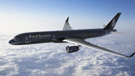 Four Seasons Resort Private Boeing 757 Jet scheduled to make its inaugural flight to St. Kitts and Nevis in 2017