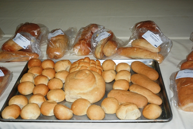 Bread made with wheat flour and cassava flour during the Food and Agriculture Organisation's Bread Making Using Wet Cassava workshop on May 17-18, 2016